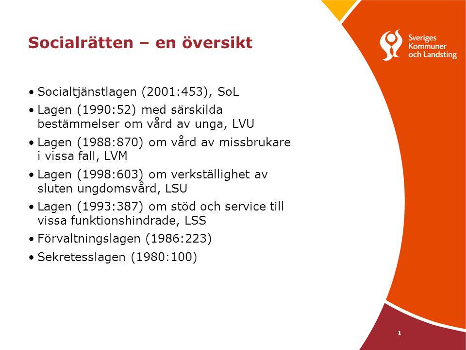 2 Socialtjänstlagen (2001:453) Helhetssyn Målinriktad ramlag med rättighetsinslag Vistelseprincip Grundläggande värderingar - demokrati - jämlikhet - solidaritet - trygghet - barnperspektiv