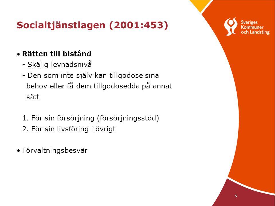 6 Lagen (1988:870) om vård av missbrukare i vissa fall, LVM När nödvändig vård inte kan ges på frivillig väg Syftar till att motivera till vård i frivilliga former Tvångsvård ska beslutas om 1.