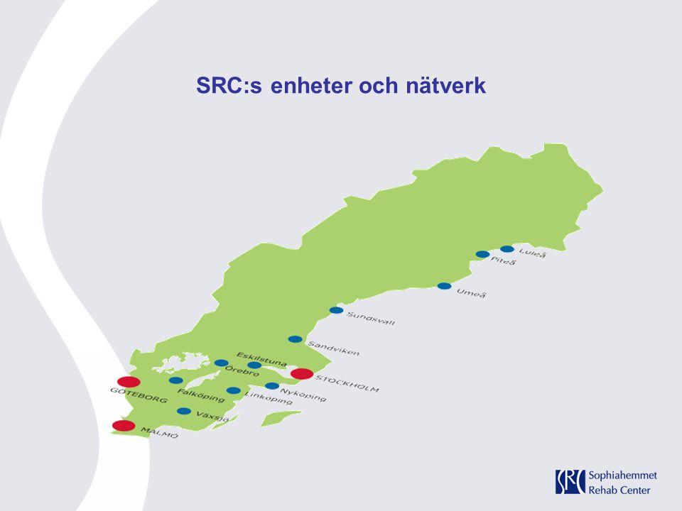 SRC:s enheter och nätverk