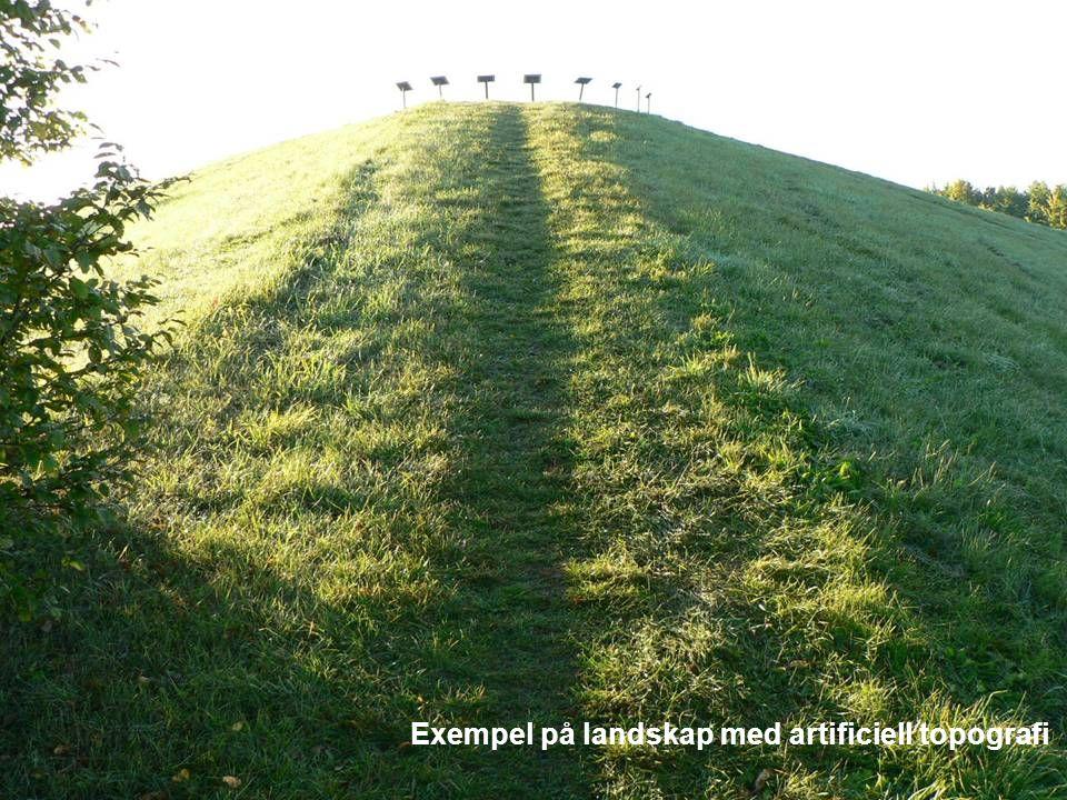 Exempel på landskap med artificiell topografi