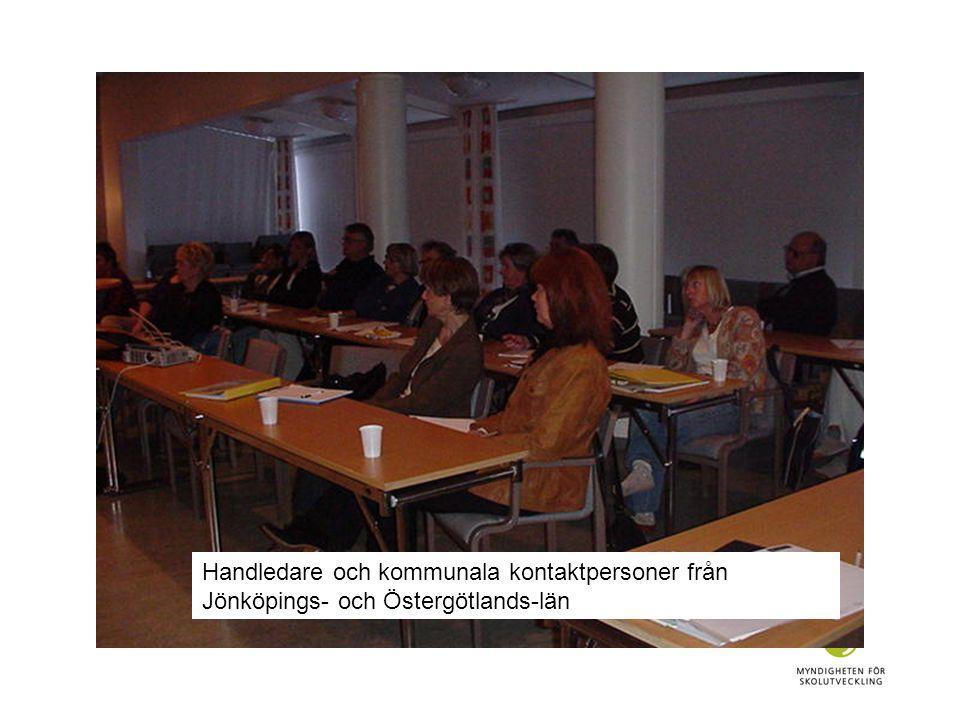 Handledare och kommunala kontaktpersoner från Jönköpings- och Östergötlands-län