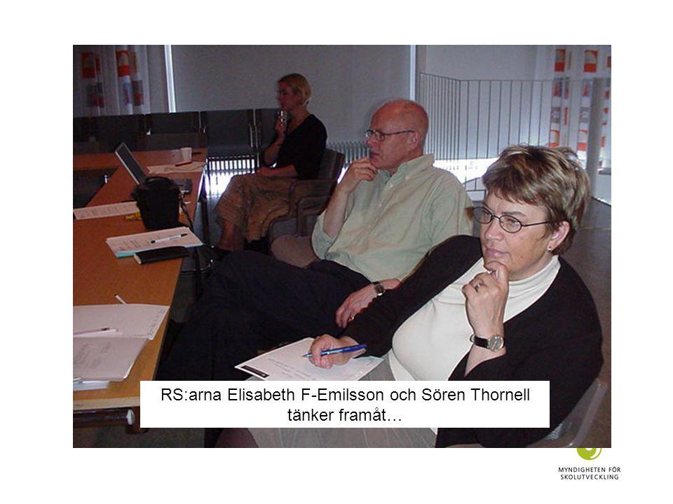 RS:arna Elisabeth F-Emilsson och Sören Thornell tänker framåt…