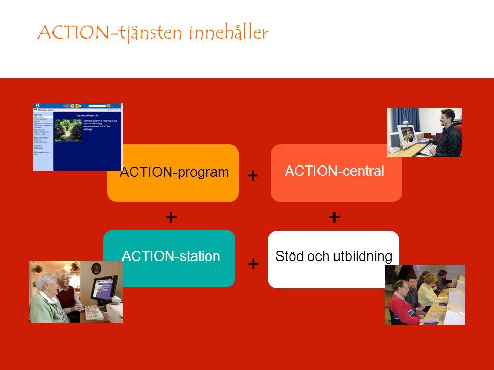 8 ACTION-tjänsten innehåller ACTION-program ACTION-central ACTION-stationStöd och utbildning + + + +