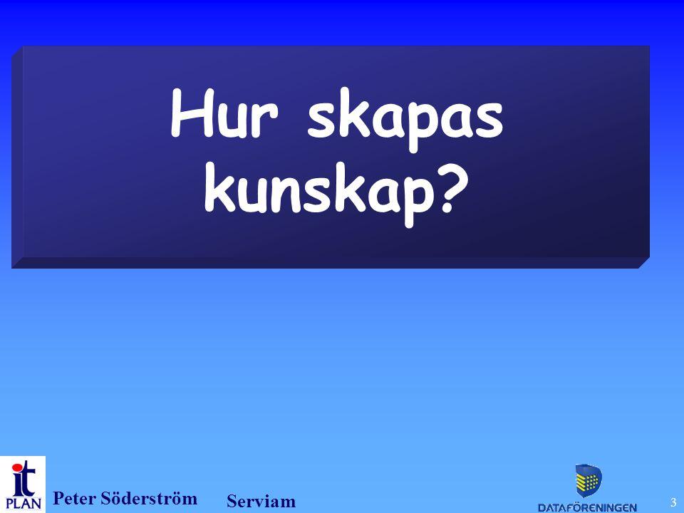 Peter Söderström Serviam 3 Hur skapas kunskap?