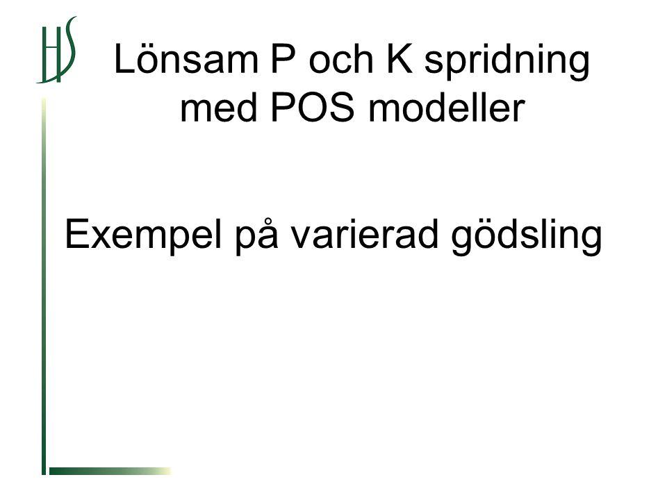 Lönsam P och K spridning med POS modeller Exempel på varierad gödsling