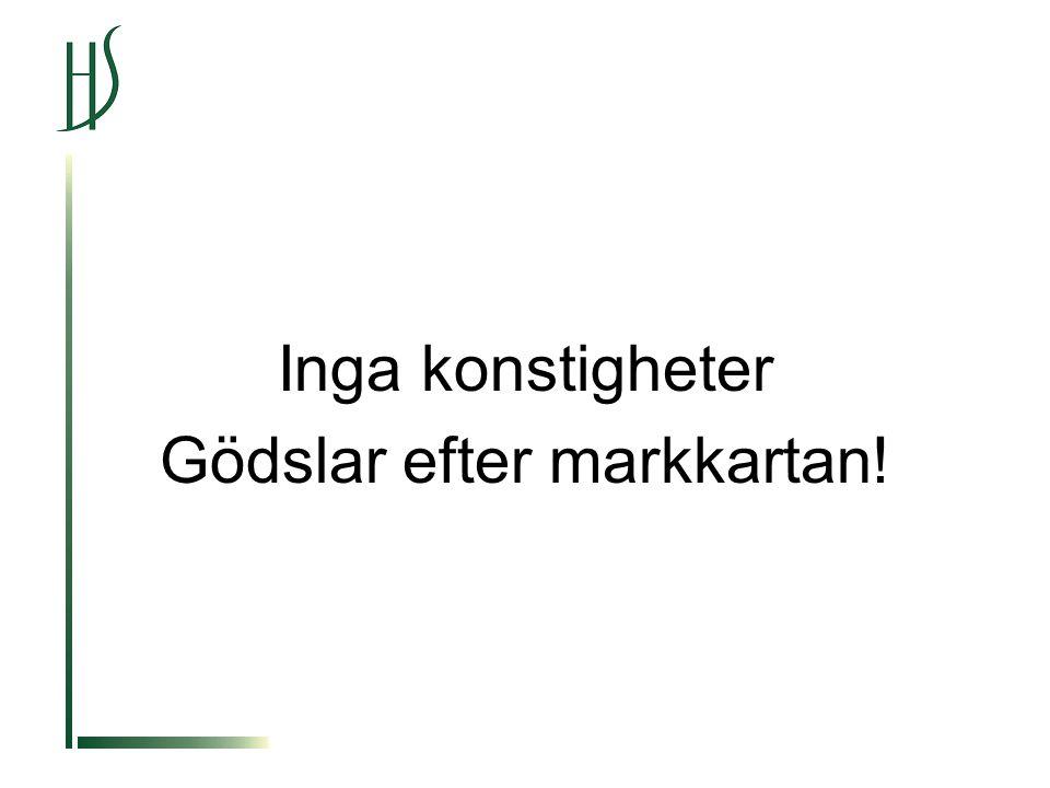 Inga konstigheter Gödslar efter markkartan!
