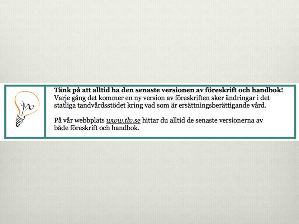 800 Protetiska a ̊ tga ̈ rder  Fast protetik  A ̊ tga ̈ rd 800–809 fo ̈ r tandsto ̈ dd protetik innefattar i fo ̈ rekommande fall bedo ̈ vning, material, no ̈ dva ̈ ndig frila ̈ ggning (undantaget frila ̈ ggning med lamba ̊ ), exkavering och preprotetiska fyllningar, preprotetisk bettslipning, provisorium och cementering.