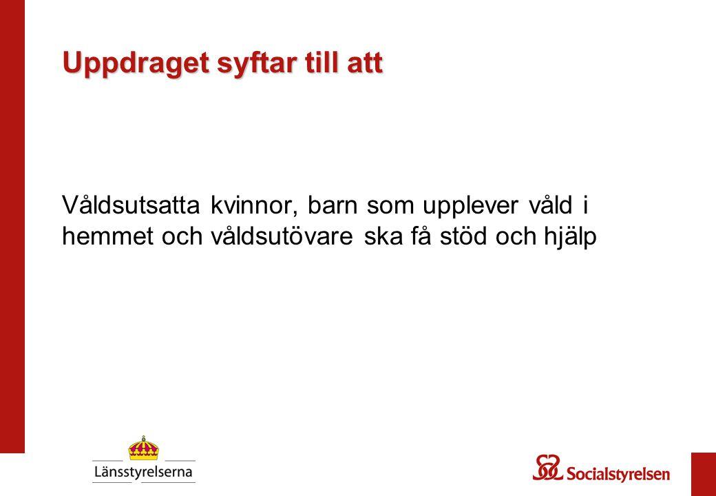 Problembeskrivning Tio procent av alla barn beräknas ha upplevt våld i hemmet uppskattningsvis 85 000 till 190 000 barn i Sverige växer upp i familjer där våld förekommer.