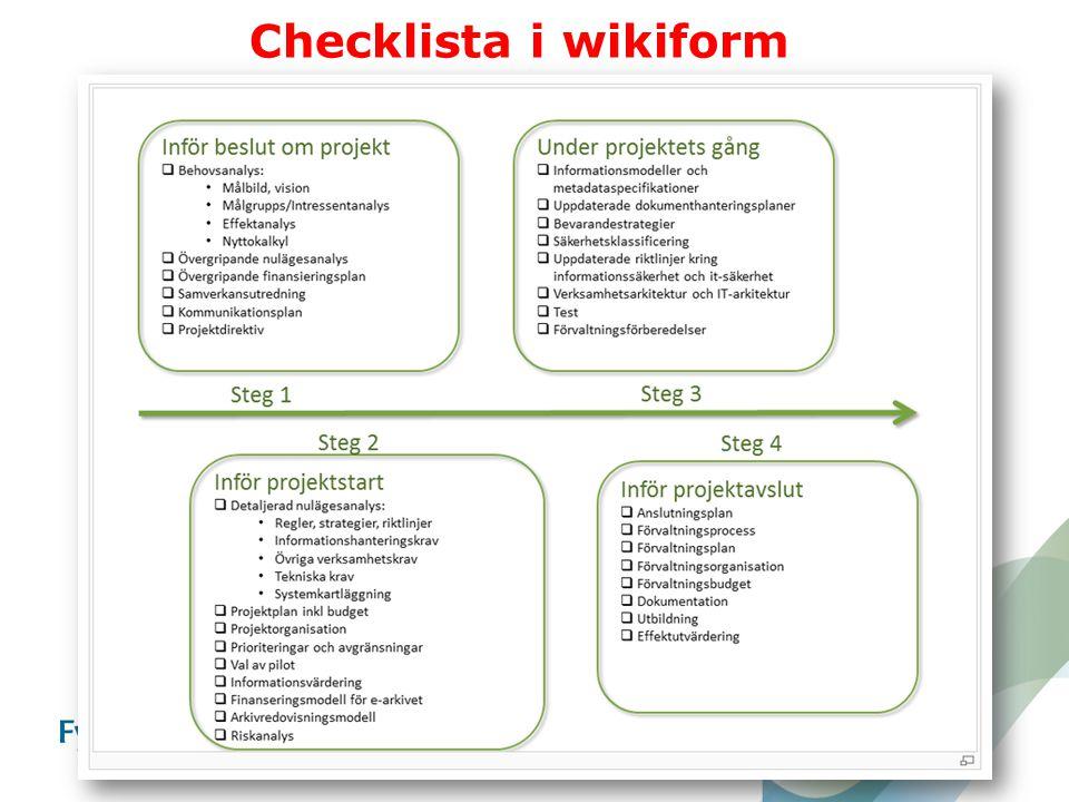 Checklista i wikiform