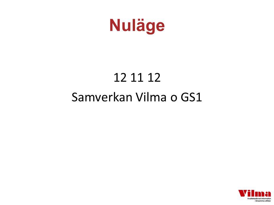 Nuläge 12 11 12 Samverkan Vilma o GS1