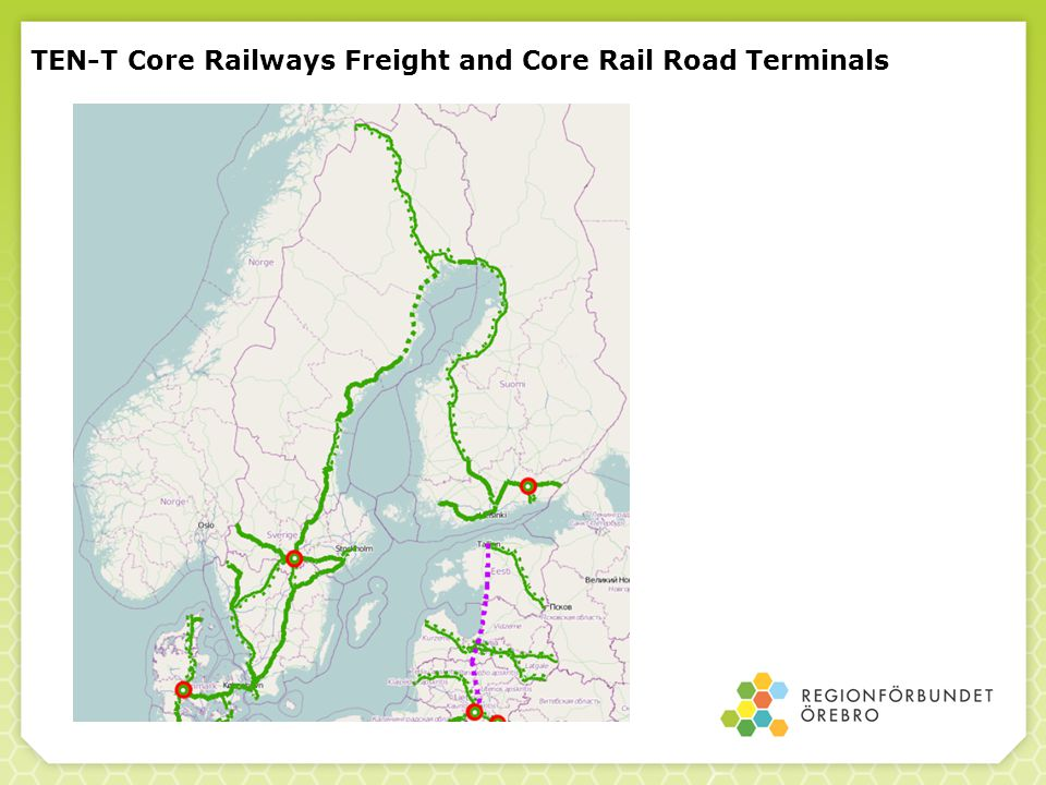 TEN-T Core Railways Freight and Core Rail Road Terminals