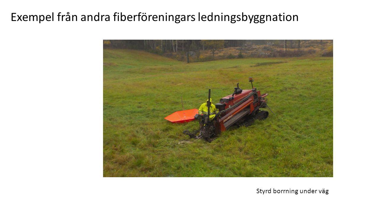 Exempel från andra fiberföreningars ledningsbyggnation Styrd borrning under väg