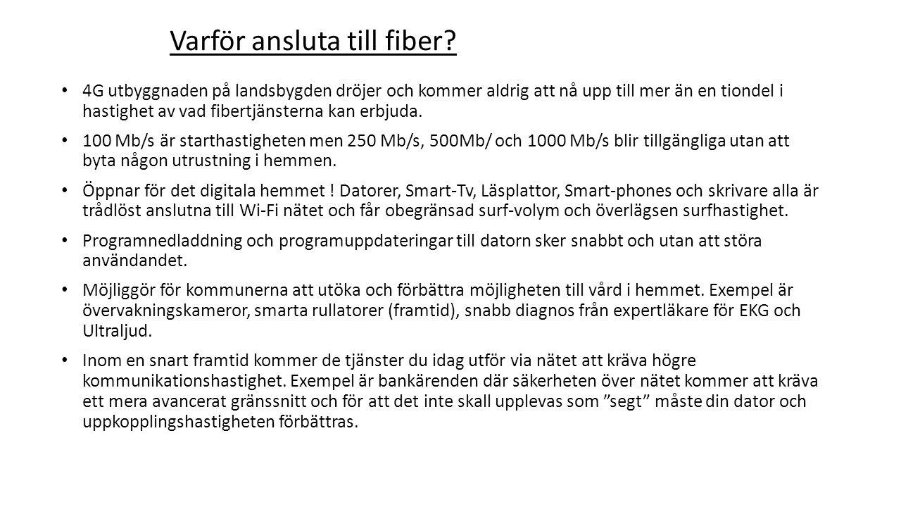 Tossene fiber IP only: Alt1.Föreningens gruppavtal (i 5 år).