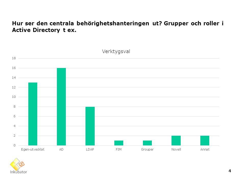 Hur ser den centrala behörighetshanteringen ut? Grupper och roller i Active Directory t ex. 4