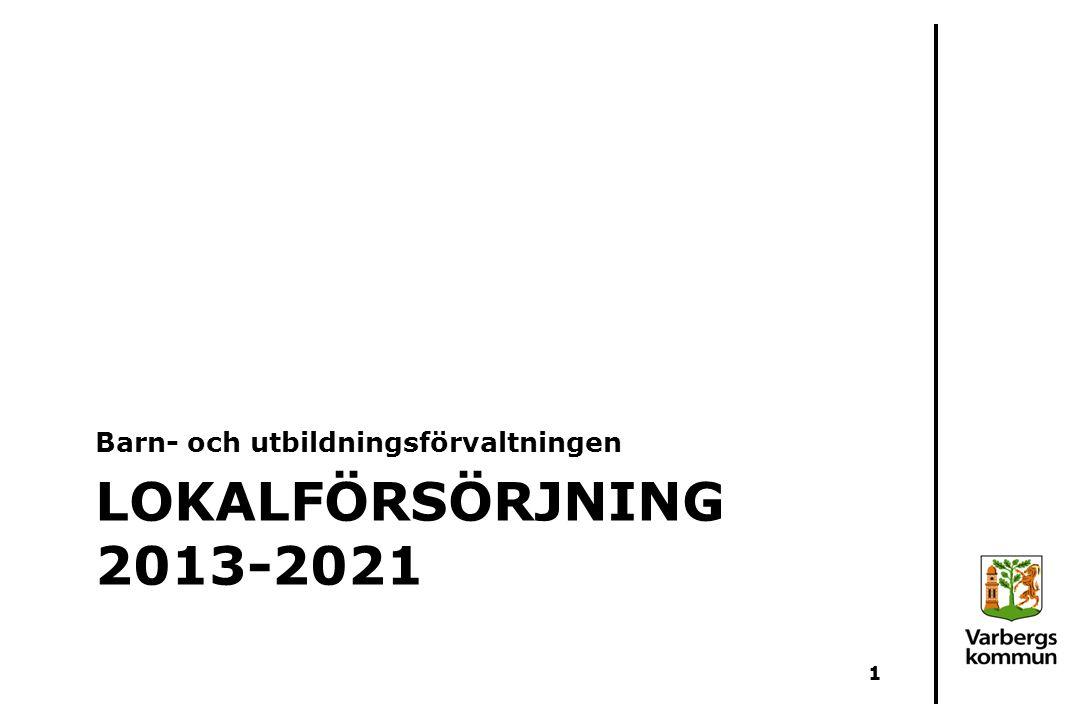 LOKALFÖRSÖRJNING 2013-2021 Barn- och utbildningsförvaltningen 1