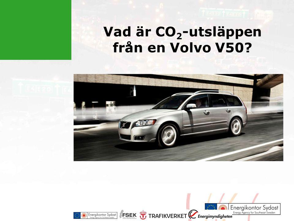 Vad är CO 2 -utsläppen från en Volvo V50?
