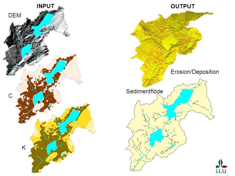 DEM C K INPUT OUTPUT Sedimentflöde Erosion/Deposition