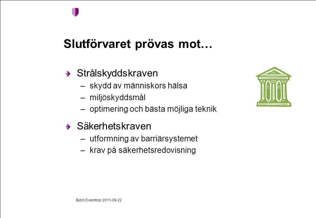 En unik prövning Björn Dverstorp 2011-09-22