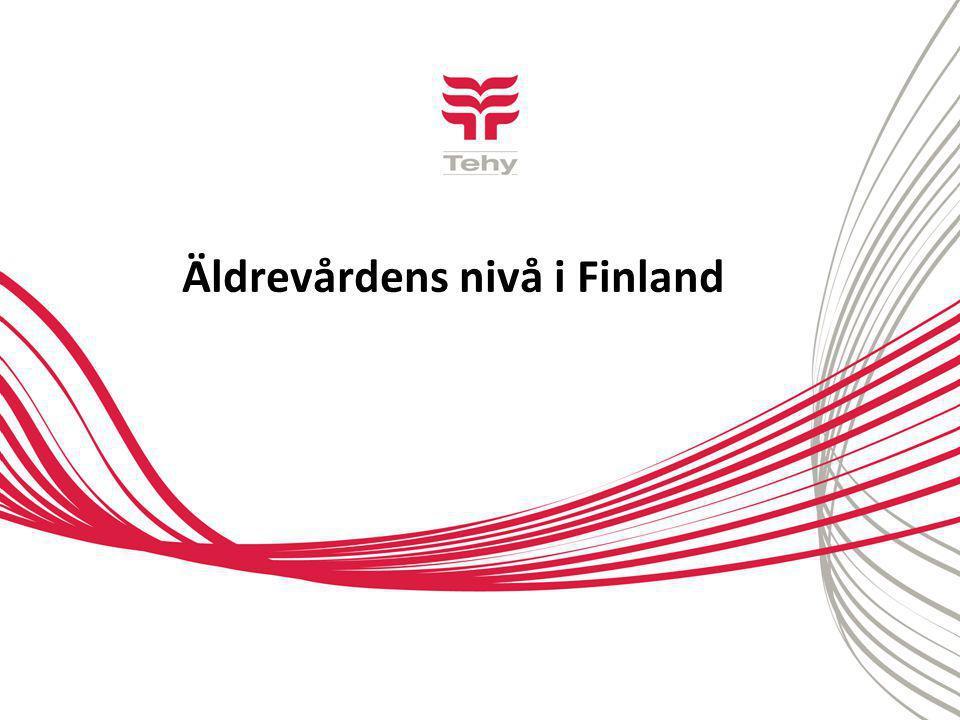Äldrevårdens nivå i Finland