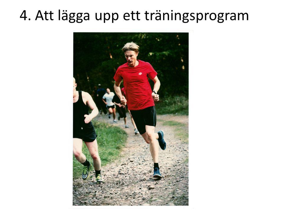 4. Att lägga upp ett träningsprogram