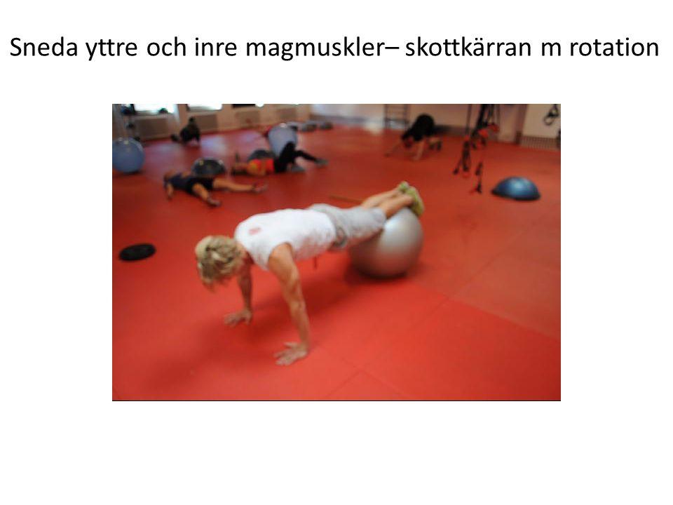 Sneda yttre och inre magmuskler– skottkärran m rotation