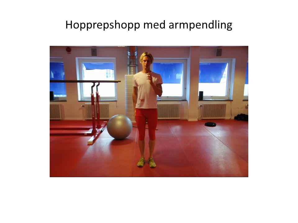 Hopprepshopp med armpendling