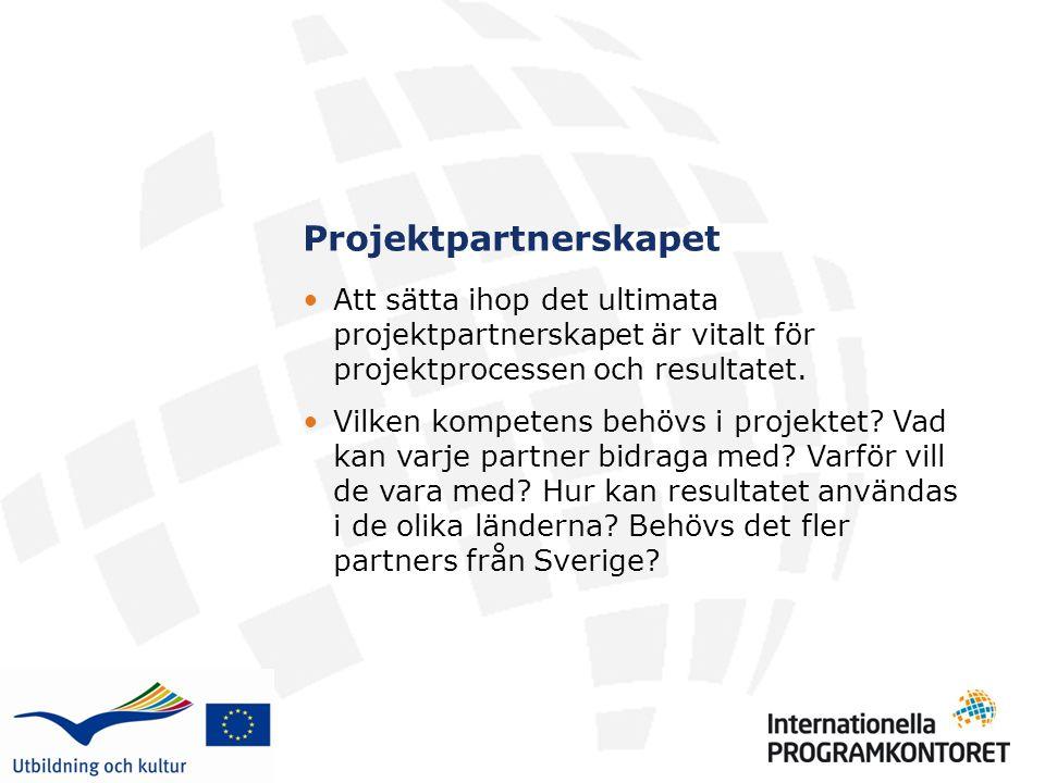 Projektpartnerskapet Att sätta ihop det ultimata projektpartnerskapet är vitalt för projektprocessen och resultatet.
