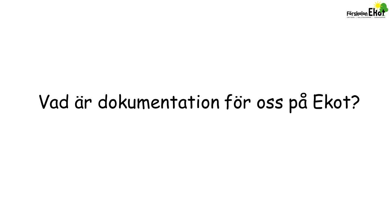 VerksamhetDokumentationReflektionMÅL Vidareutvecklings -samta l Vart ska vi.