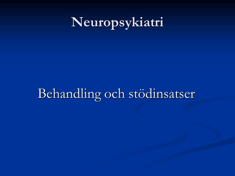 Neuropsykiatri Behandling och stödinsatser