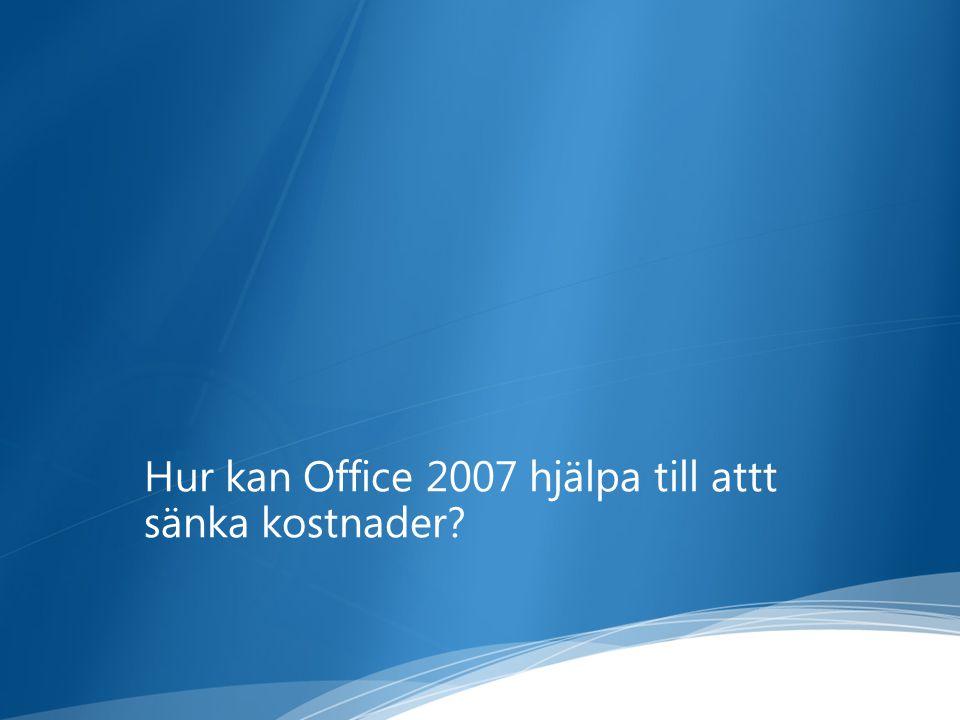 Hur kan Office 2007 hjälpa till attt sänka kostnader?