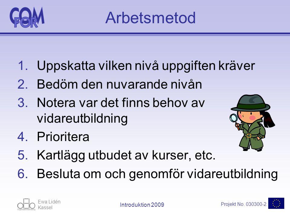 Ewa Lidén Kassel Projekt No.