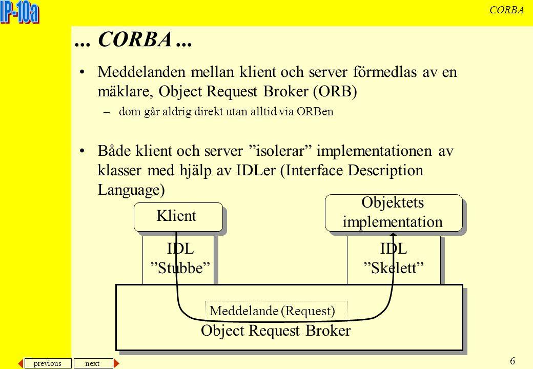 previous next 7 CORBA...