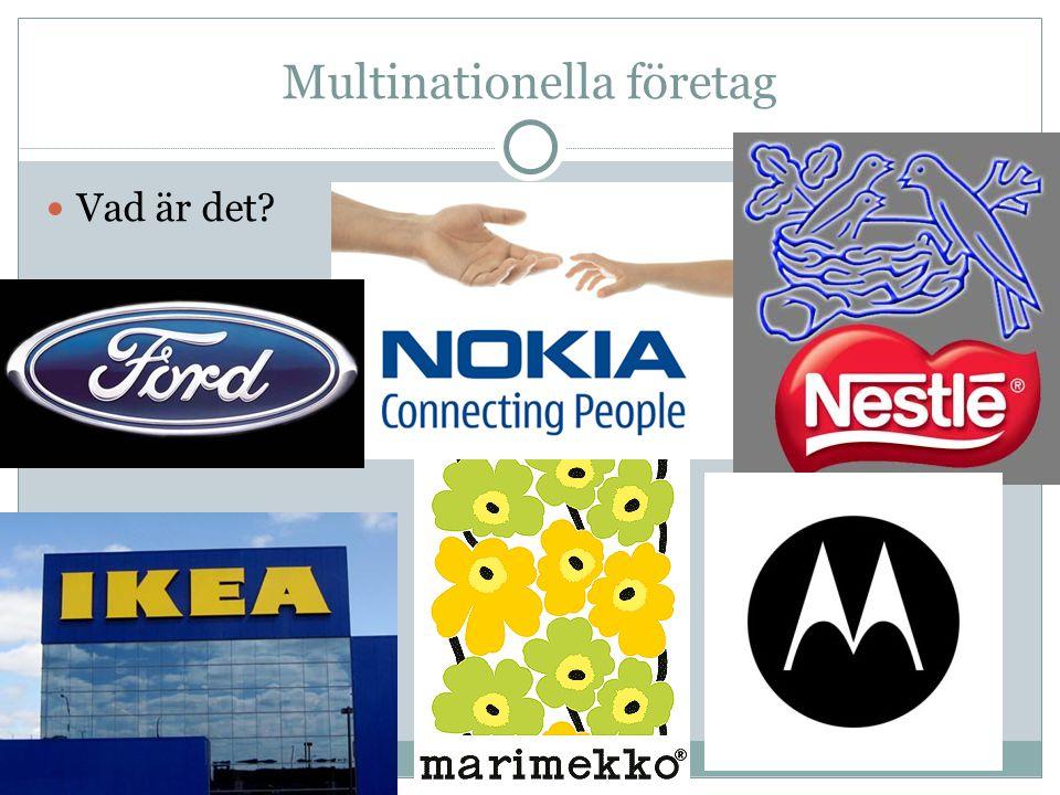 Multinationella företag Vad är det?