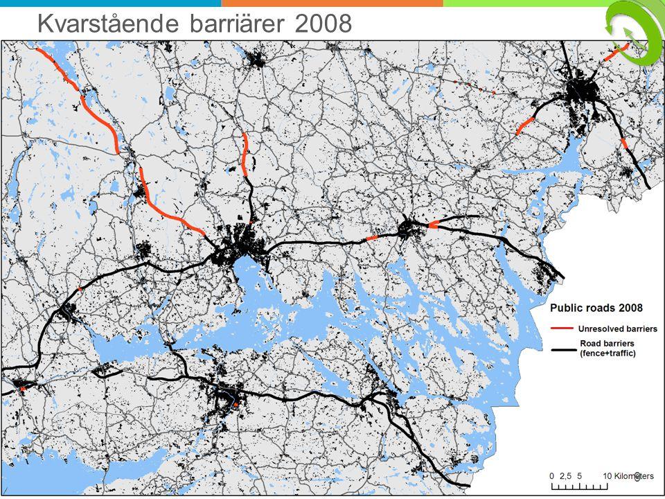 9 Kvarstående barriärer 2008