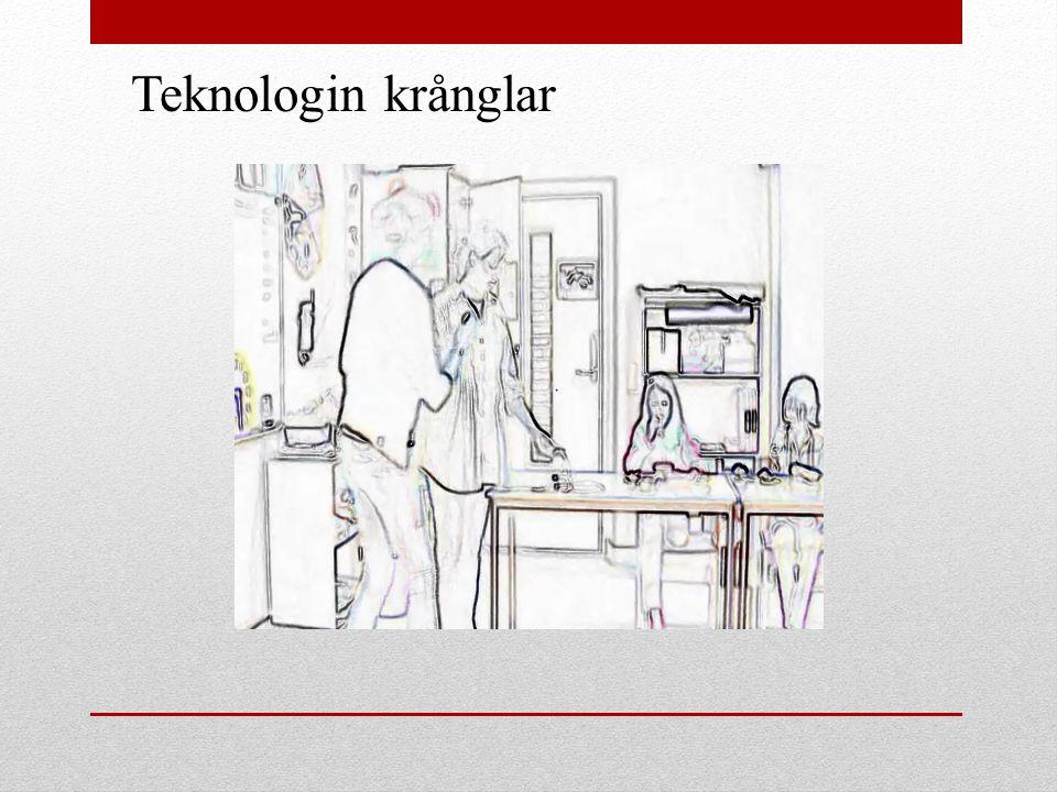 Teknologin krånglar
