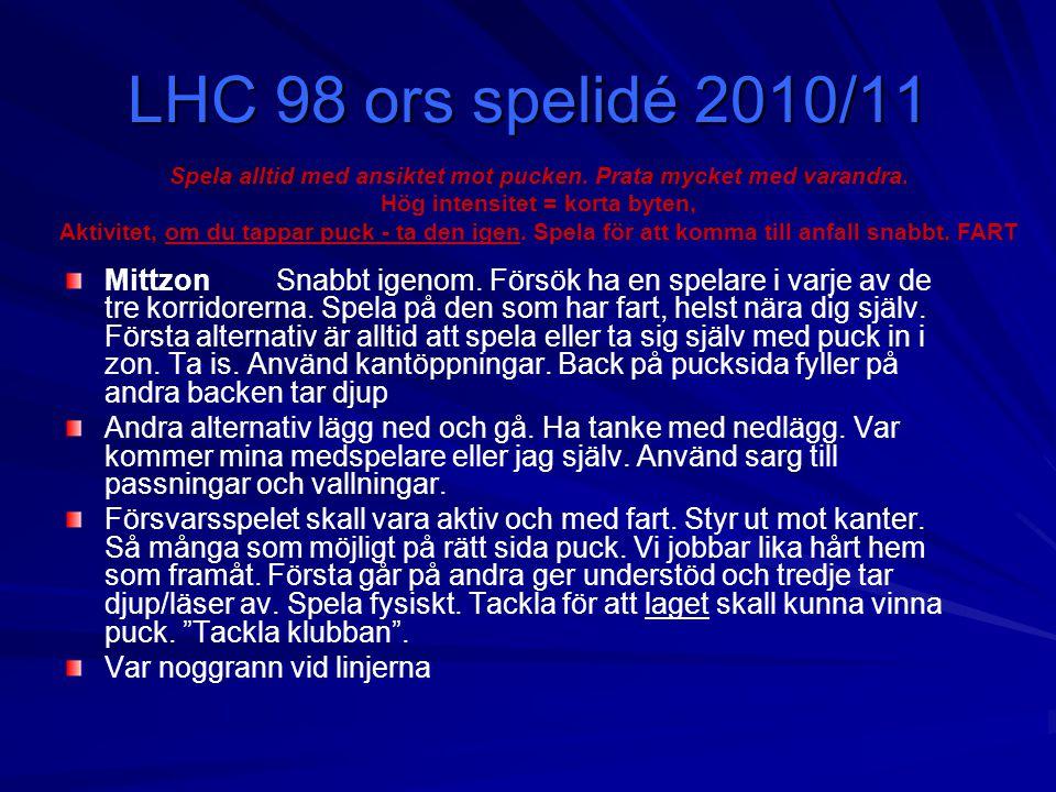 LHC 98 ors spelidé 2010/11 MittzonSnabbt igenom.