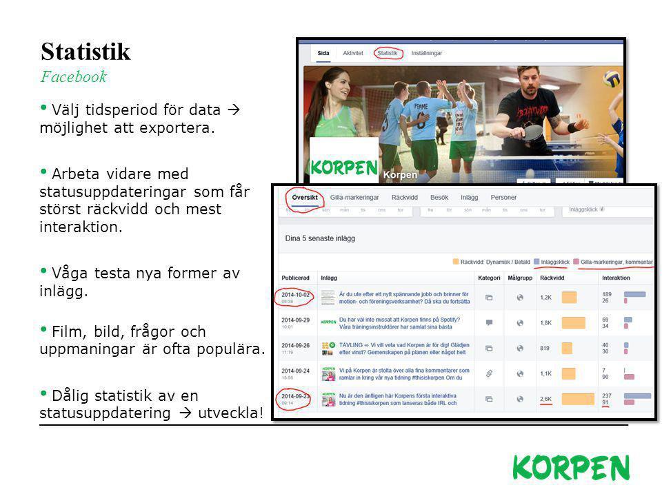 Korpen Svenska Motionsidrottsförbundet Besöks- och leveransadress: Fiskartorpsvägen 15A, 114 73 Stockholm Telefon växel: 08-699 60 00 E-post: info@kor