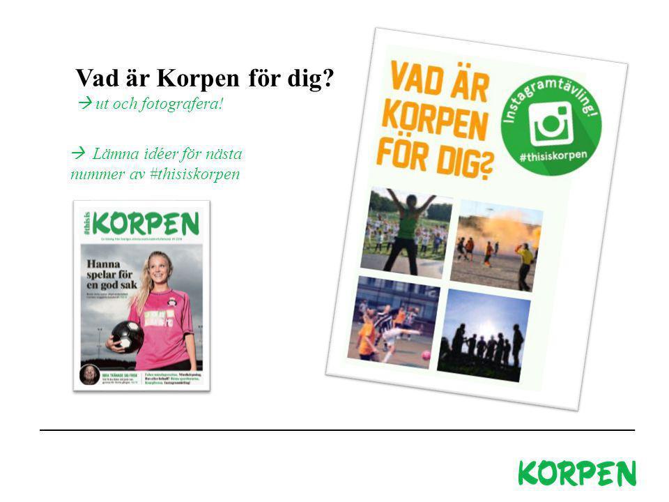 Korpen Svenska Motionsidrottsförbundet Besöks- och leveransadress: Fiskartorpsvägen 15A, 114 73 Stockholm Telefon växel: 08-699 60 00 E-post: info@korpen.se Hemsida: www.korpen.se Vad är Korpen för dig.
