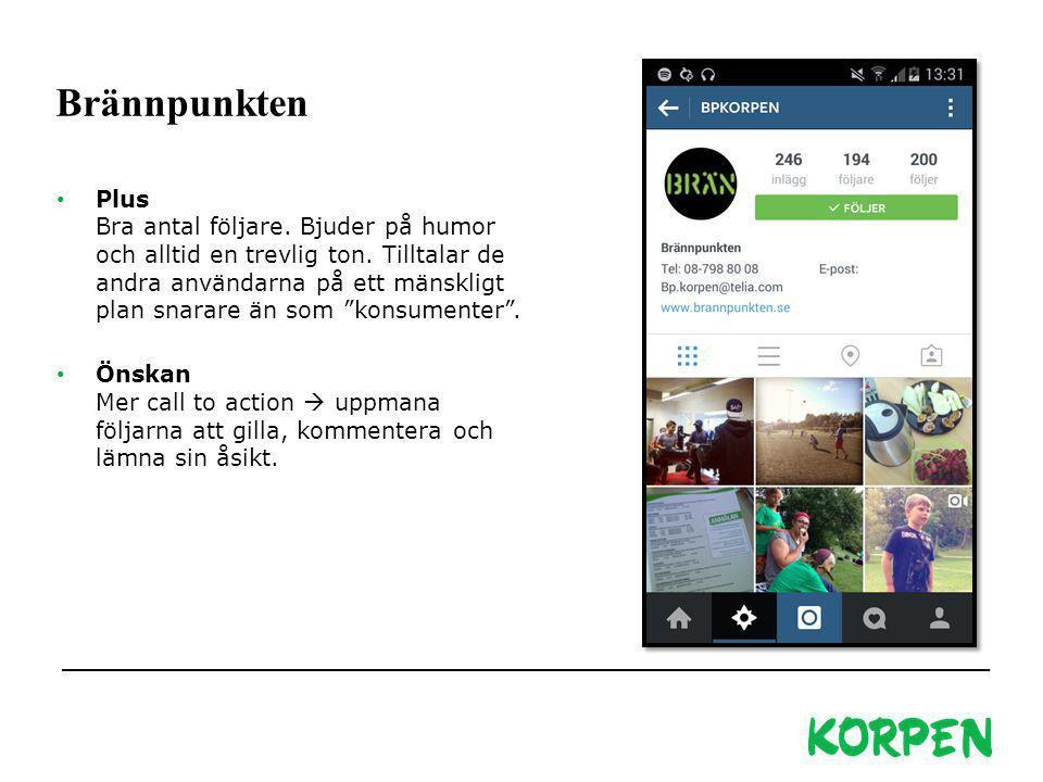 Korpen Svenska Motionsidrottsförbundet Besöks- och leveransadress: Fiskartorpsvägen 15A, 114 73 Stockholm Telefon växel: 08-699 60 00 E-post: info@korpen.se Hemsida: www.korpen.se Brännpunkten Plus Bra antal följare.