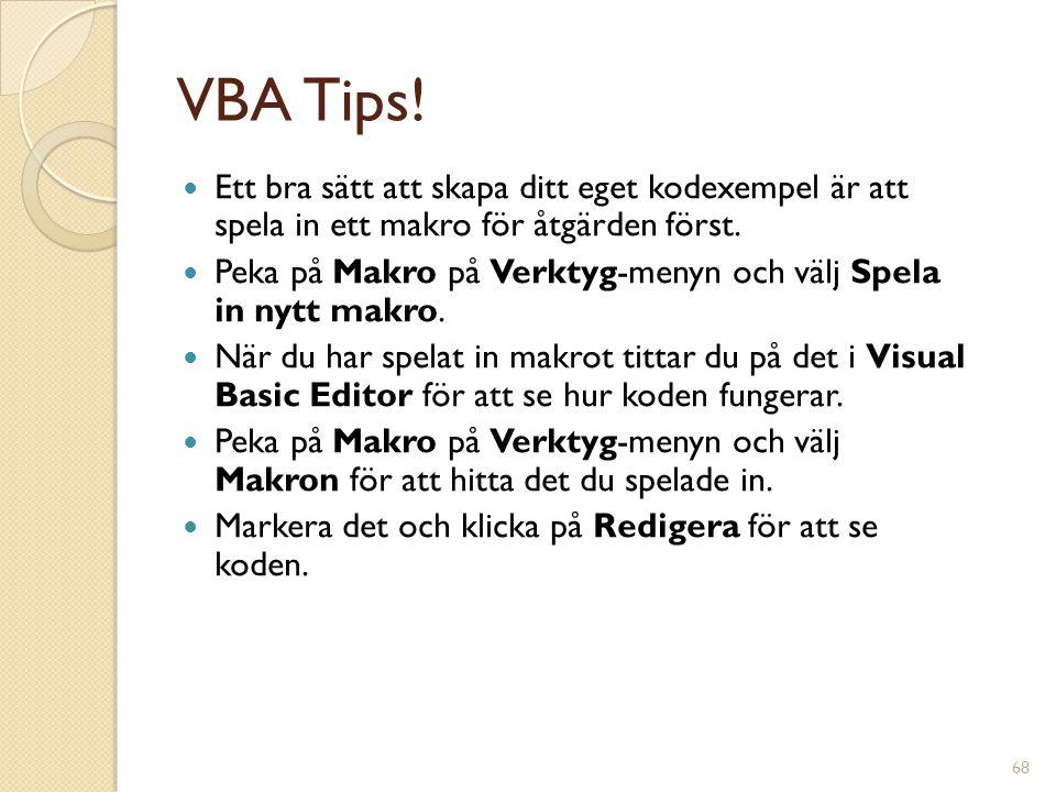 68 VBA Tips.