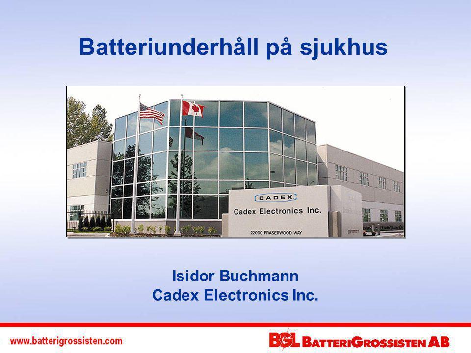 Batteriunderhåll på sjukhus Isidor Buchmann Cadex Electronics Inc.
