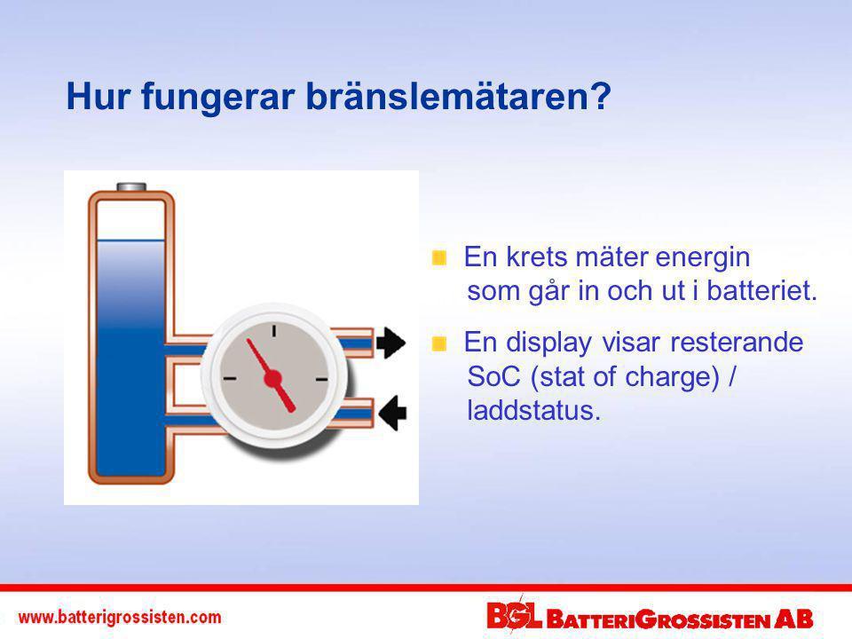En krets mäter energin som går in och ut i batteriet.