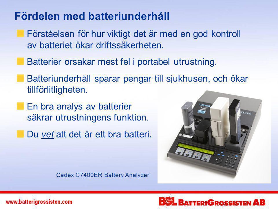 Fördelen med batteriunderhåll Förståelsen för hur viktigt det är med en god kontroll av batteriet ökar driftssäkerheten.