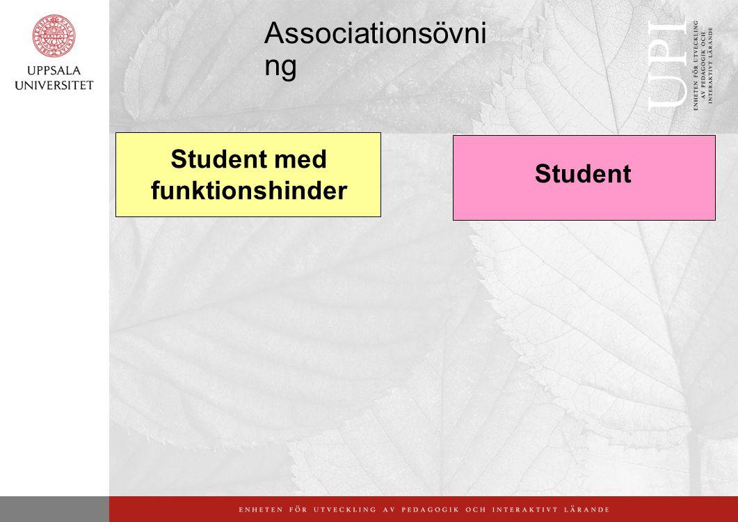 Associationsövni ng Student med funktionshinder Student