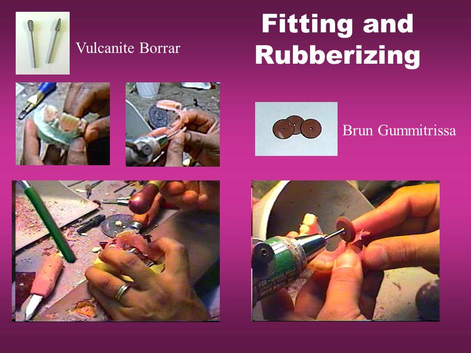Fitting and Rubberizing Brun Gummitrissa Vulcanite Borrar