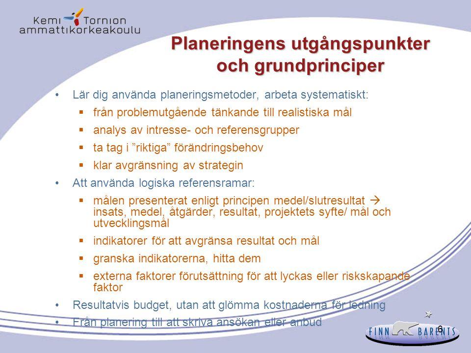 57 Kvalitativa indikatorfaktorer Genomför- barhet Är insamlingen av information ändamålsenlig.