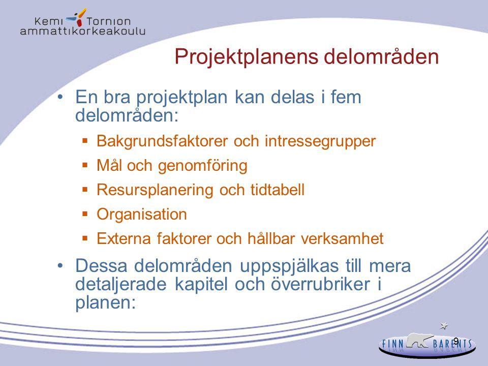 40 Analys 3: Problemanalys (1) Varför görs en problemanalys.