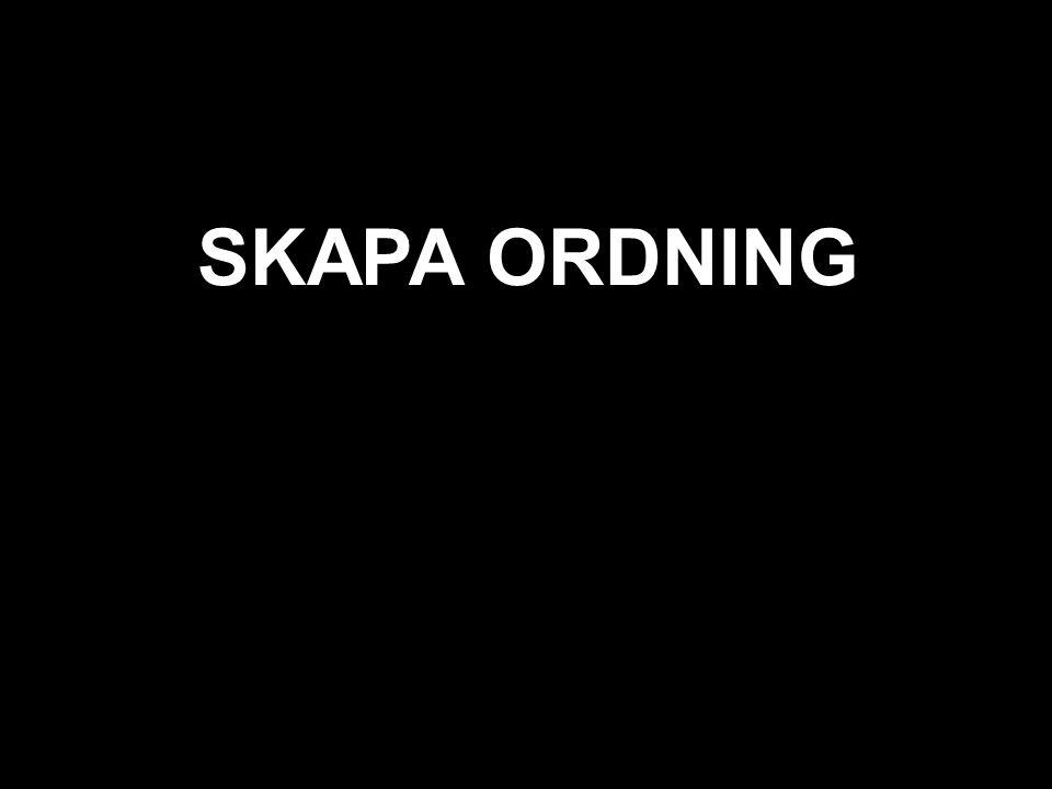 svart SKAPA ORDNING