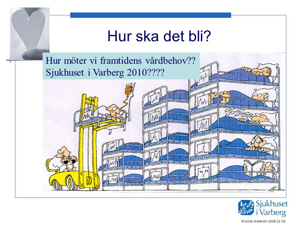 Hur ska det bli? Hur möter vi framtidens vårdbehov?? Sjukhuset i Varberg 2010???? Kristina Wallentin 2006 02 09