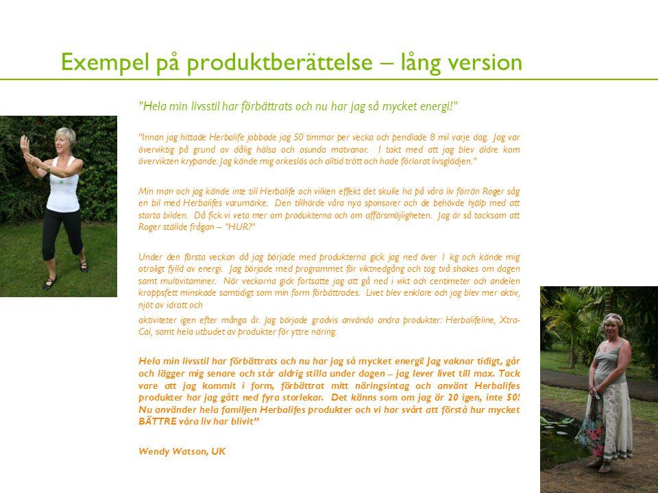 16 Exempel på produktberättelse – lång version